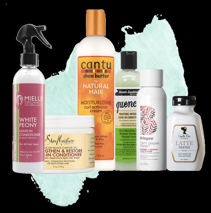 Leave-in produkter för lockigt hår